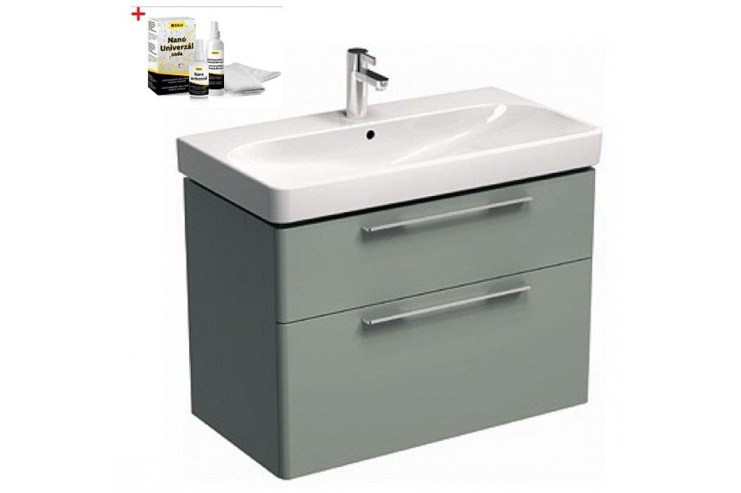 Skříňka s umyvadlem Kolo Kolo 90 cm, platinová šedá SIKONKOT90PS Koupelnový nábytek