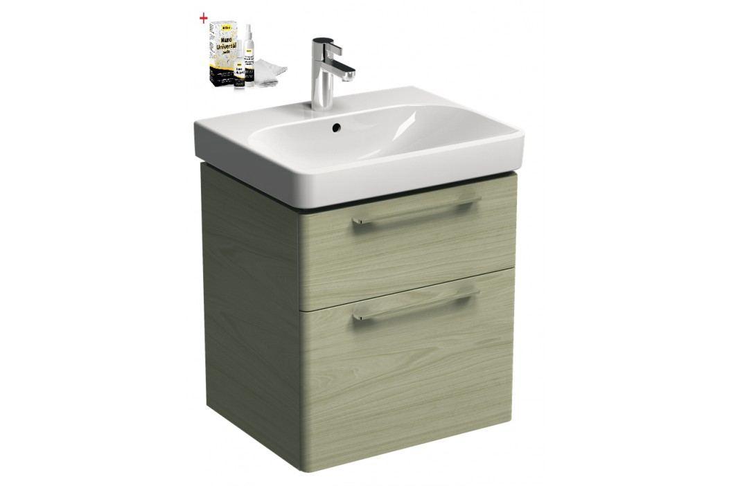 Skříňka s umyvadlem Kolo Kolo 60 cm, jasan bělený SIKONKOT60JB Koupelnový nábytek