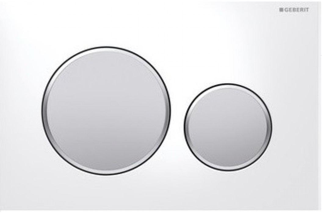 Geberit Ovládací tlačítko Sigma20, bílá/pochromovaná matná/pochromovaná matná 115.882.KL.1 Ovládací tlačítka