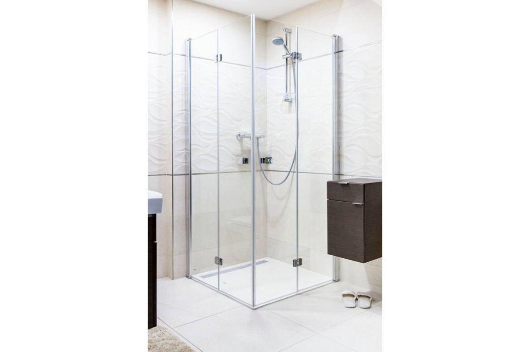 ANIMA sprchový kout skládací 80x90cm, čiré sklo/chrom profil - SIKOSK8090 Sprchové kouty