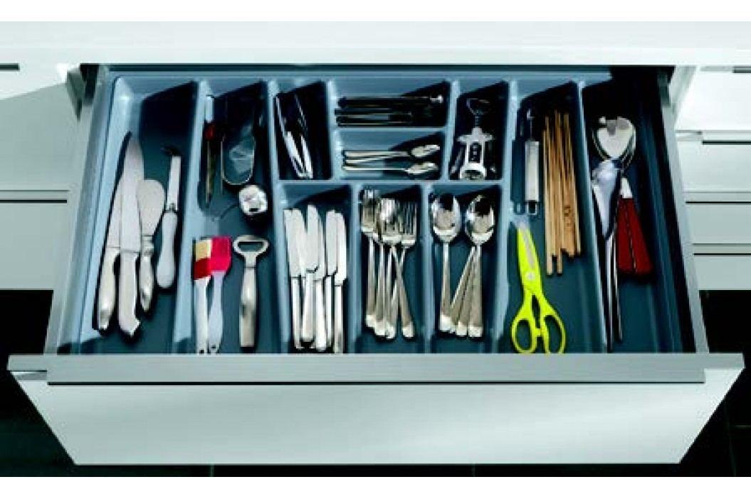 Příborník PVC 90cm, šedý BE90 Kuchyňské linky