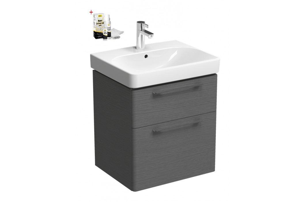 Skříňka s umyvadlem Kolo Kolo 60 cm, dub šedý SIKONKOT60DS Koupelnový nábytek