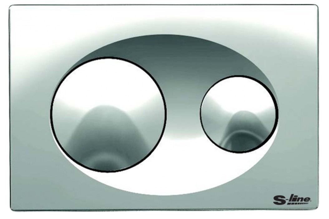 Ovládací tlačítko S-Line plast, chrom P40-0120