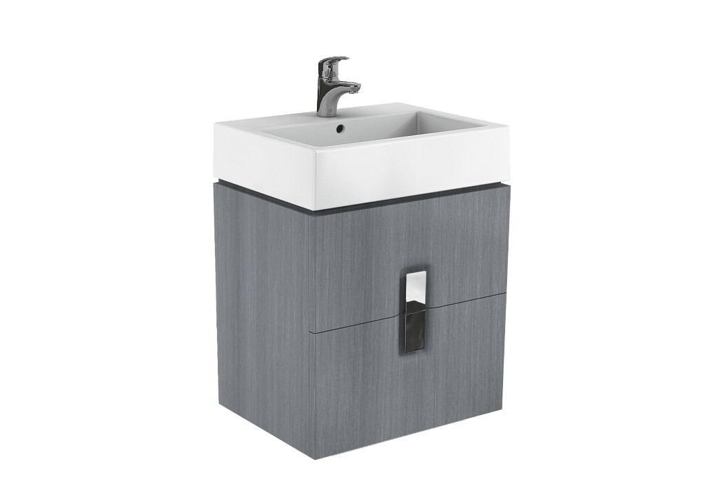 Skříňka pod umyvadlo Kolo Twins 60 cm, grafit stříbrný 89493000 Koupelnový nábytek