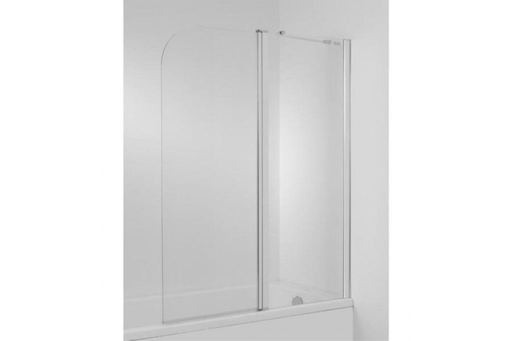 Vanová zástěna Jika Cubito 115x140 cm pravá, čiré sklo H2574260026681 Vanové zástěny