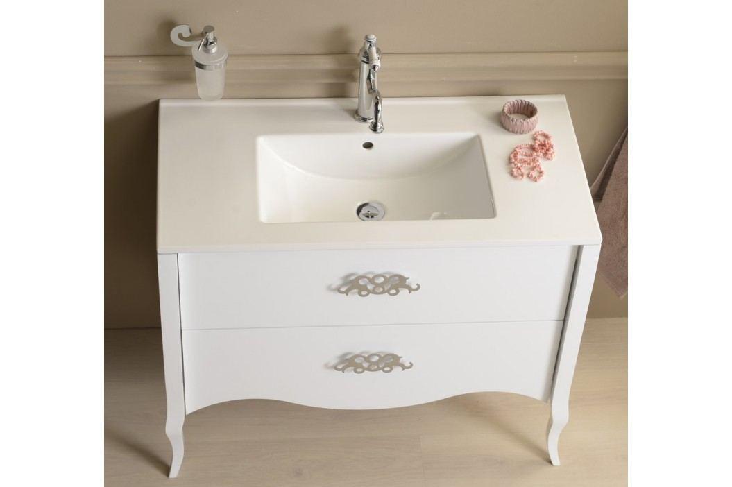 Skříňka pod umyvadlo Naturel Aria V 89 cm, bílá SIKONSS18125 Koupelnový nábytek