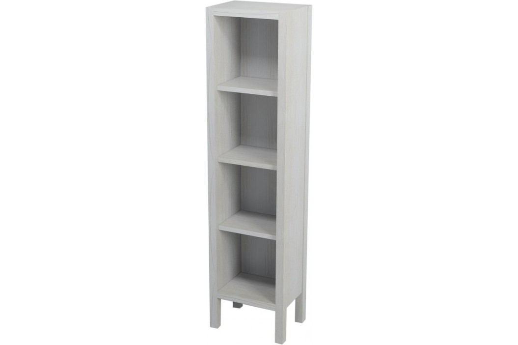 Naturel Vysoká skříňka otevřená Provence 35 cm, bílá SIKONSB022 Koupelnový nábytek