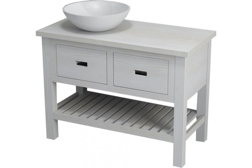 Skříňka pod umyvadlo Naturel Provence 100 cm, bílá SIKONSB102 Koupelnový nábytek