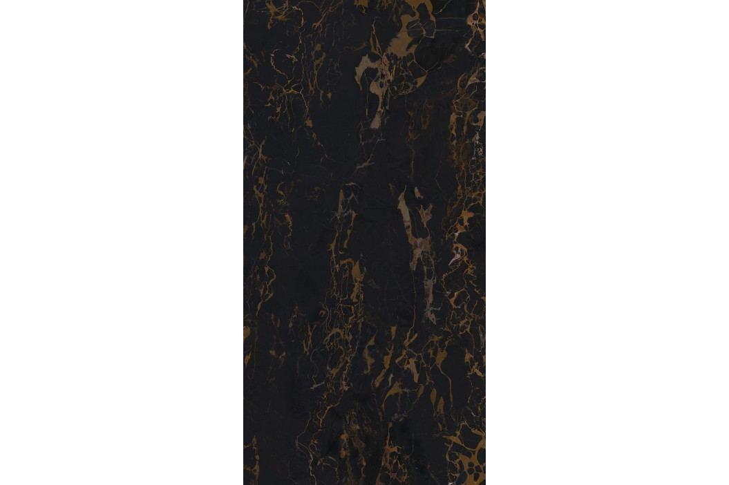 Dlažba Graniti Fiandre Marble Lab Nero Portoro 30x60 cm, leštěná, rektifikovaná AL201X836 Obklady a dlažby