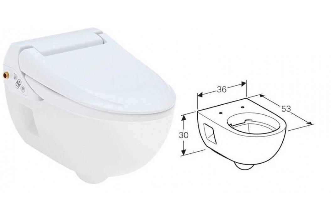 GEBERIT AquaClean 4000 146.135.11.1 Záchody