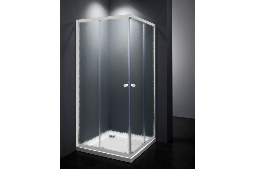 Sprchový kout Multi Basic čtverec 90 cm, neprůhledné sklo, bílý profil, univerzální SIKOMUQ90CH0 Sprchové kouty