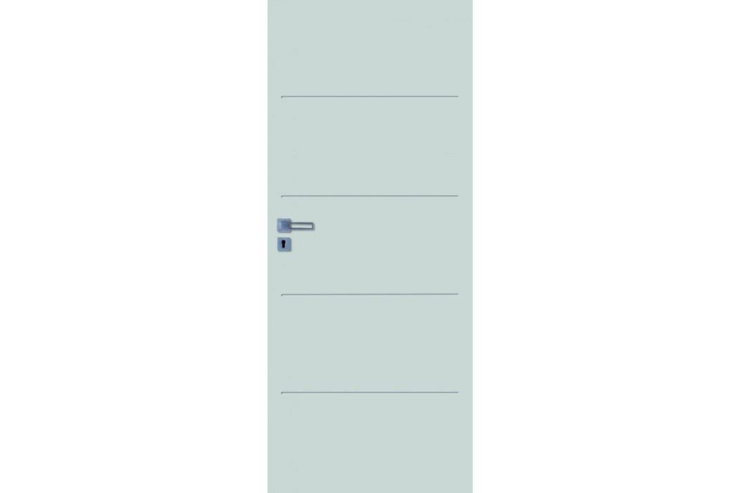 Interiérové dveře NATUREL Latino, 60 cm, pravé, bílé, lak, LATINO2060P Výhodná nabídka dveří skladem