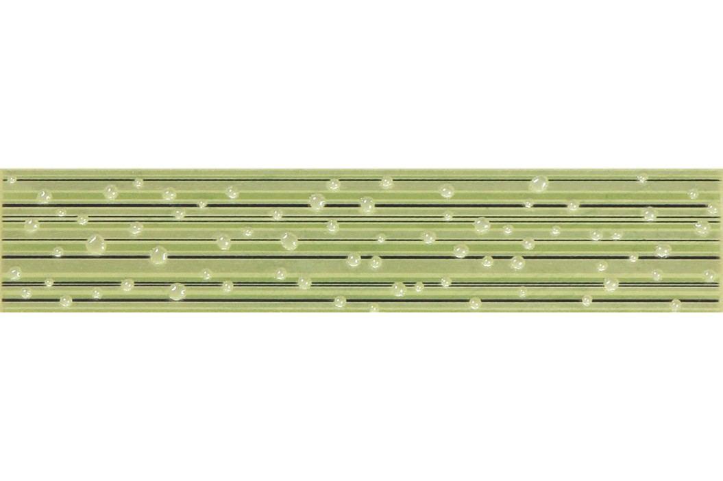 Listela Rako Delta zelená 5x25 cm, lesk WLAGE149.1 Obklady a dlažby