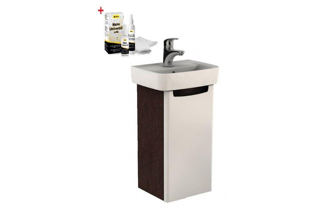 Skříňka s umývátkem Kolo Rekord 40 cm, wenge, univerzální otevírání SIKONKOR31W Koupelnový nábytek