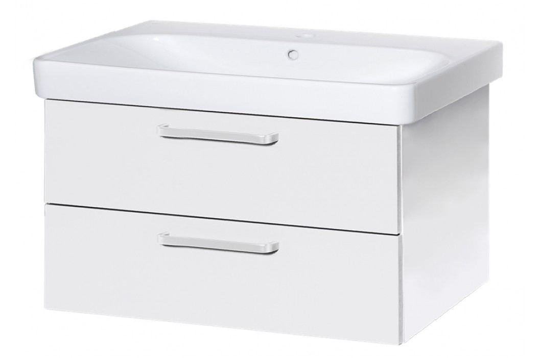 Skříňka s umyvadlem Naturel Vario Dekor 90 cm, bílá VARIO90ZBIBL Koupelnový nábytek