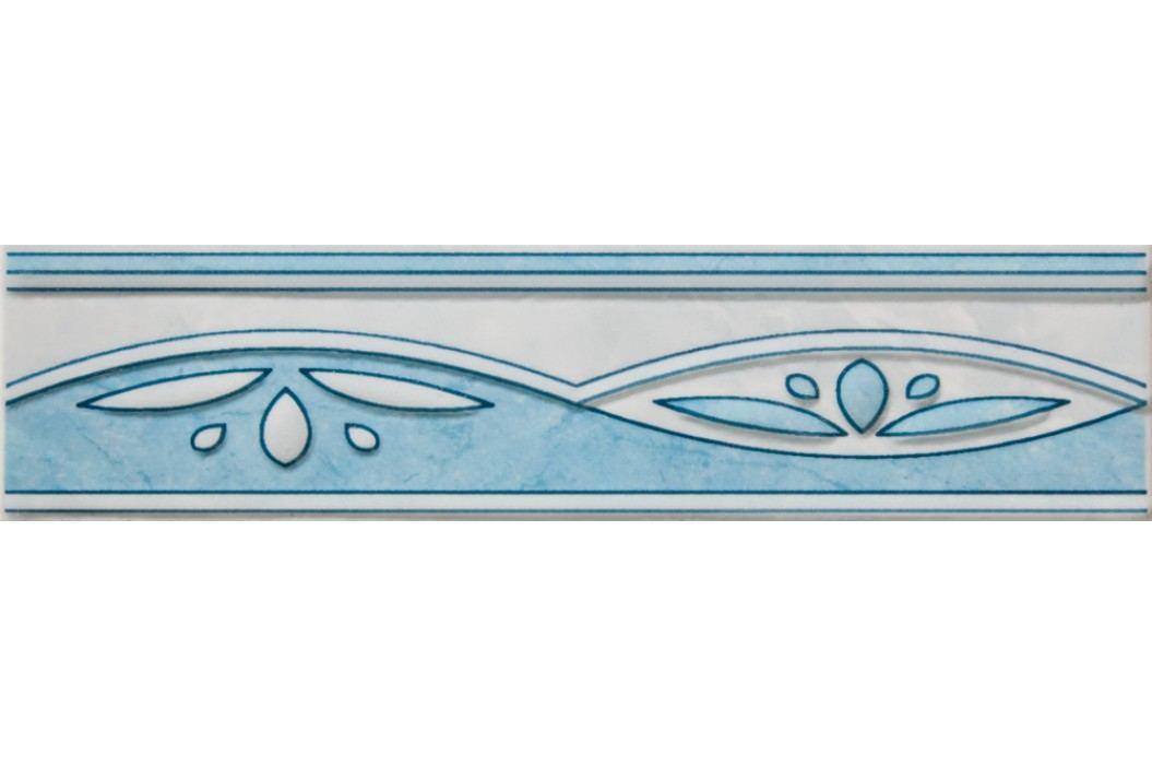 Listela Multi Laura modrá 6x25 cm, lesk WLAGF054.1 Obklady a dlažby