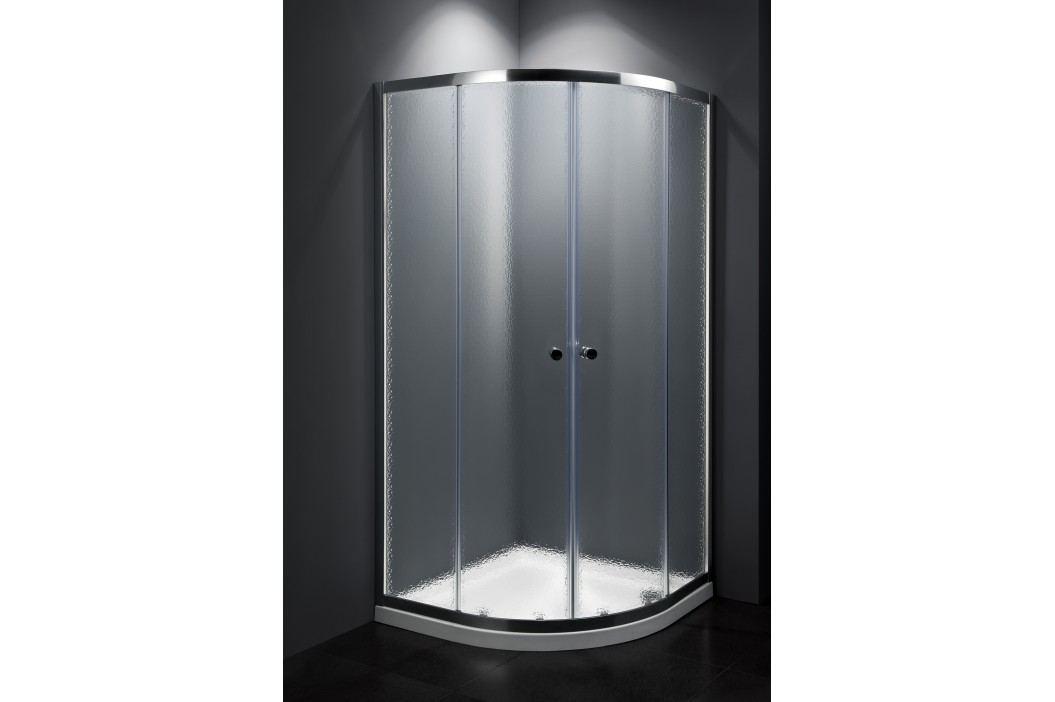 Sprchový kout Multi Basic čtvrtkruh 90 cm, R 550, neprůhledné sklo, chrom profil, univerzální SIKOMUS90CRCH Sprchové kouty