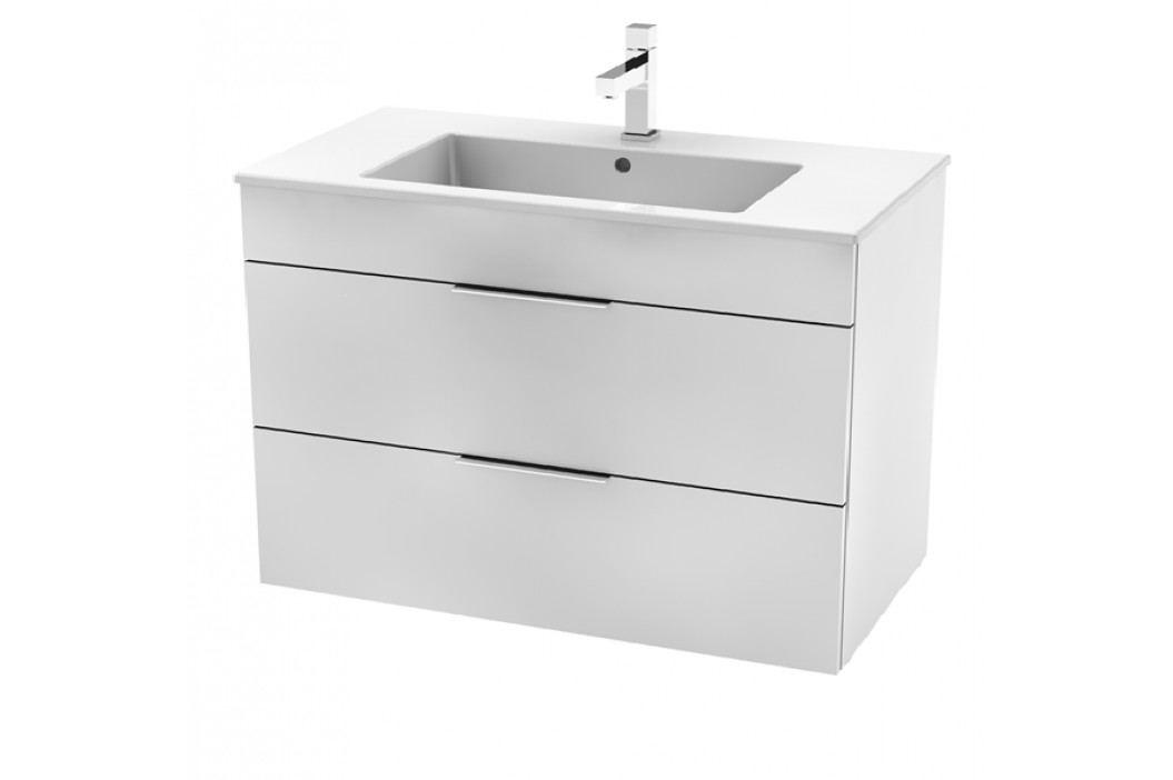 Skříňka s umyvadlem Jika Plan 100 cm, bílá H4536521763001 Koupelnový nábytek
