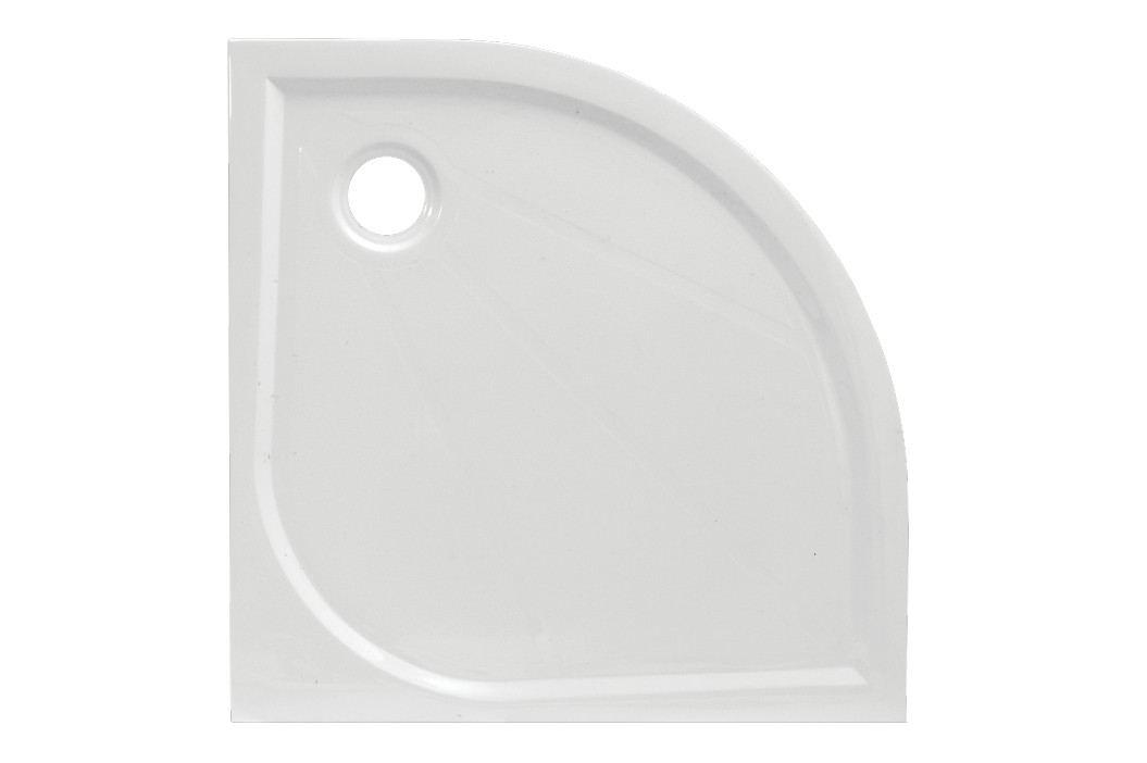 Sprchová vanička čtvrtkruhová SIKO LIMNEW 100x100 cm, R 550, litý mramor LIMNEW100S