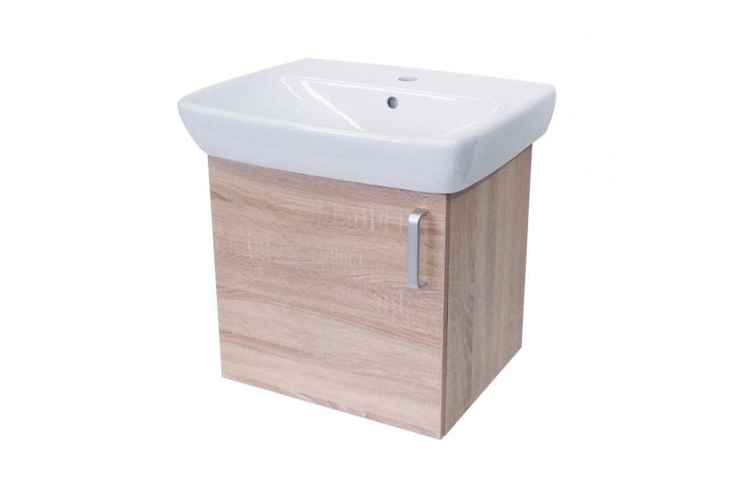 Skříňka s umyvadlem Naturel Vario Dekor 60 cm, bardolino, univerzální otevírání VARIO60DBDB Koupelnový nábytek