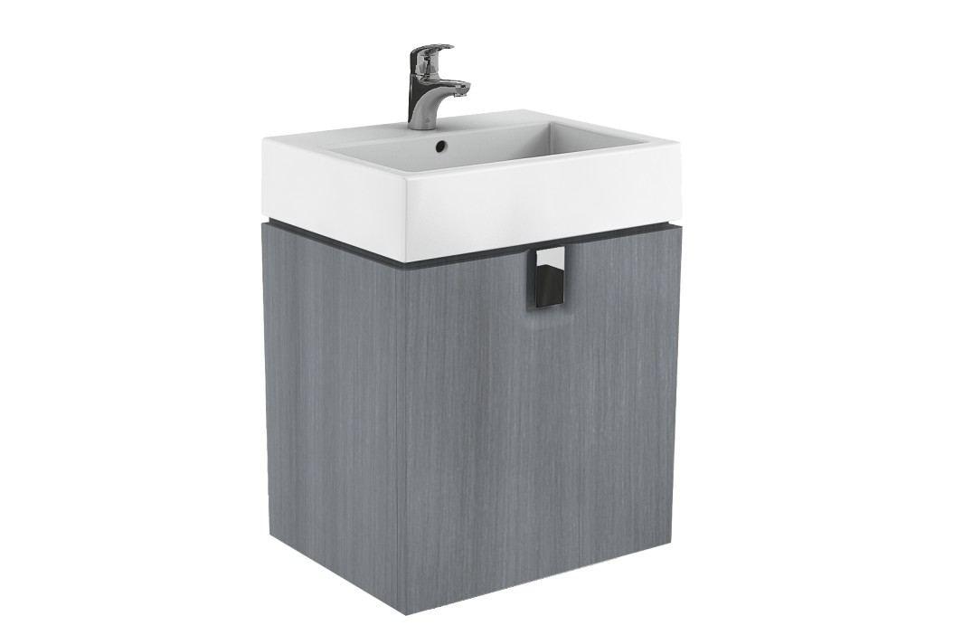 Skříňka pod umyvadlo Kolo Twins 60 cm, grafit stříbrný 89499000 Koupelnový nábytek