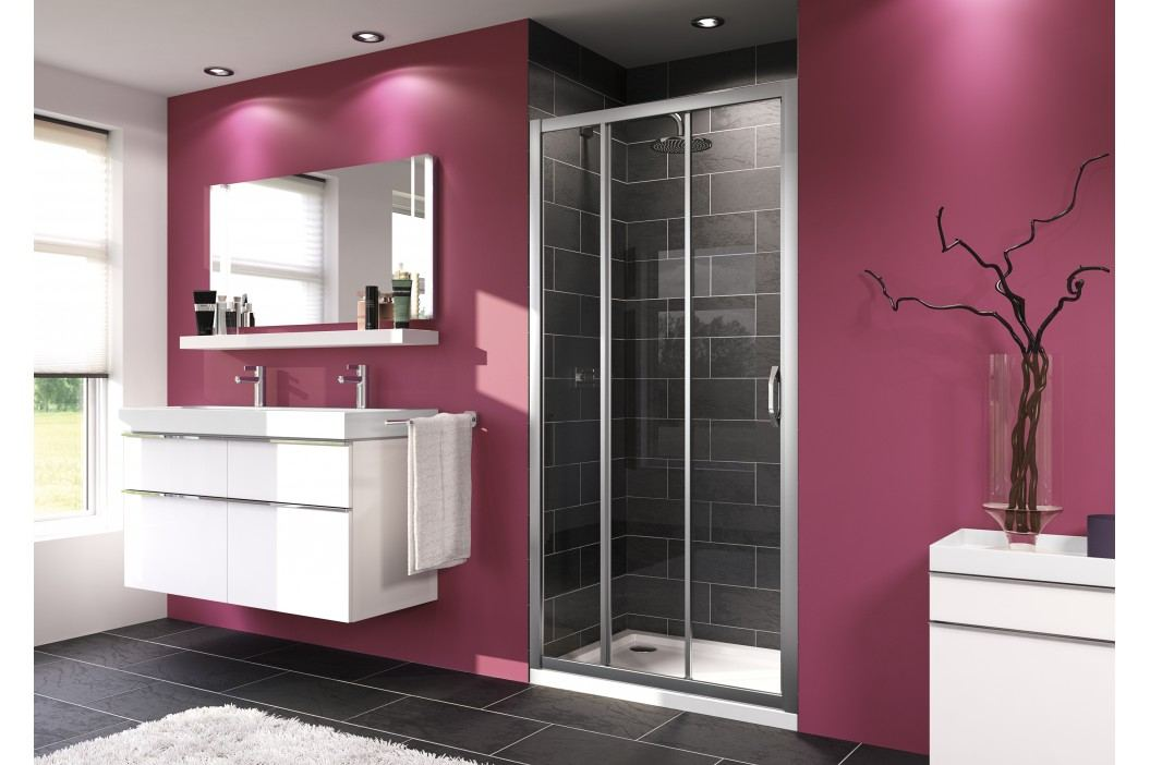 Sprchové dveře Huppe Next posuvné 80 cm, čiré sklo, chrom profil 140301.069.322 Sprchové zástěny