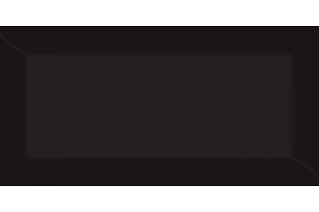 Obklad Fineza Fazzeto black 10x20 cm, lesk MET93 Obklady a dlažby
