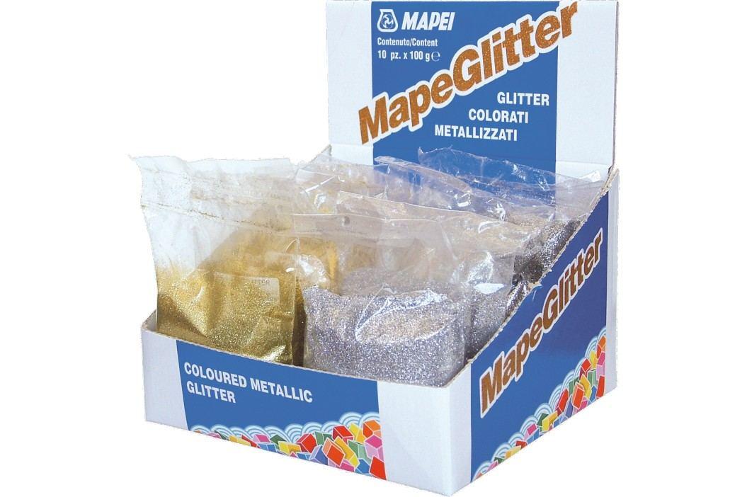 Třpytky Mapei Mapeglitter 0,1 kg stříbrná MAPEGLITTERST1