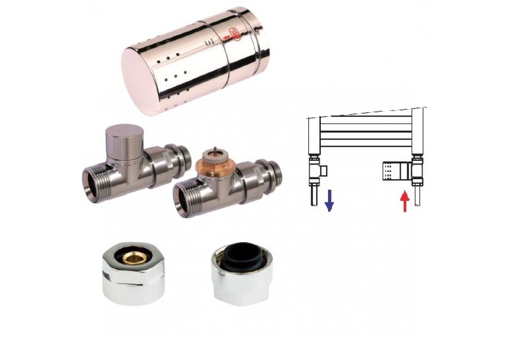 Isan O19CPC-09, chrom, termostatický set přímý pro CU trubky