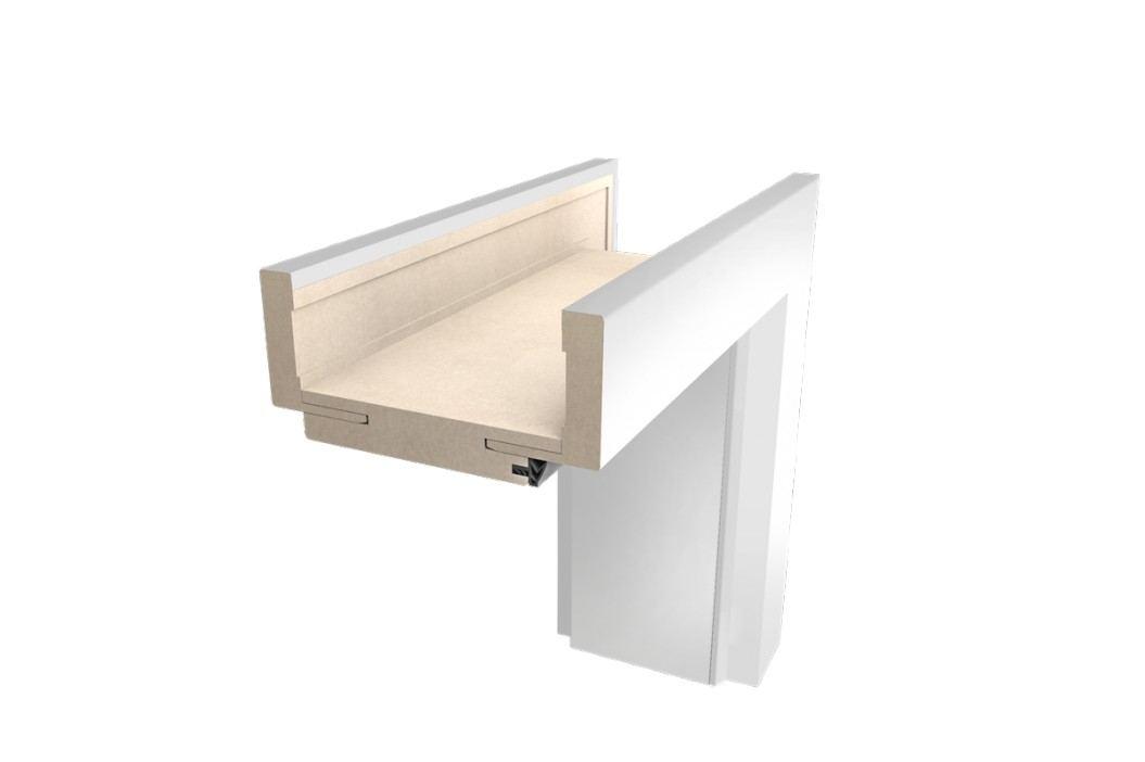 Obložková zárubeň NATUREL, 80 cm, pravá, bílá, lak, O3BLAK80P
