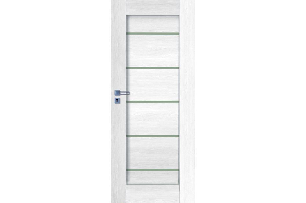 Interiérové dveře NATUREL Aura, 80 cm, pravé, borovice bílá, AURABB80P