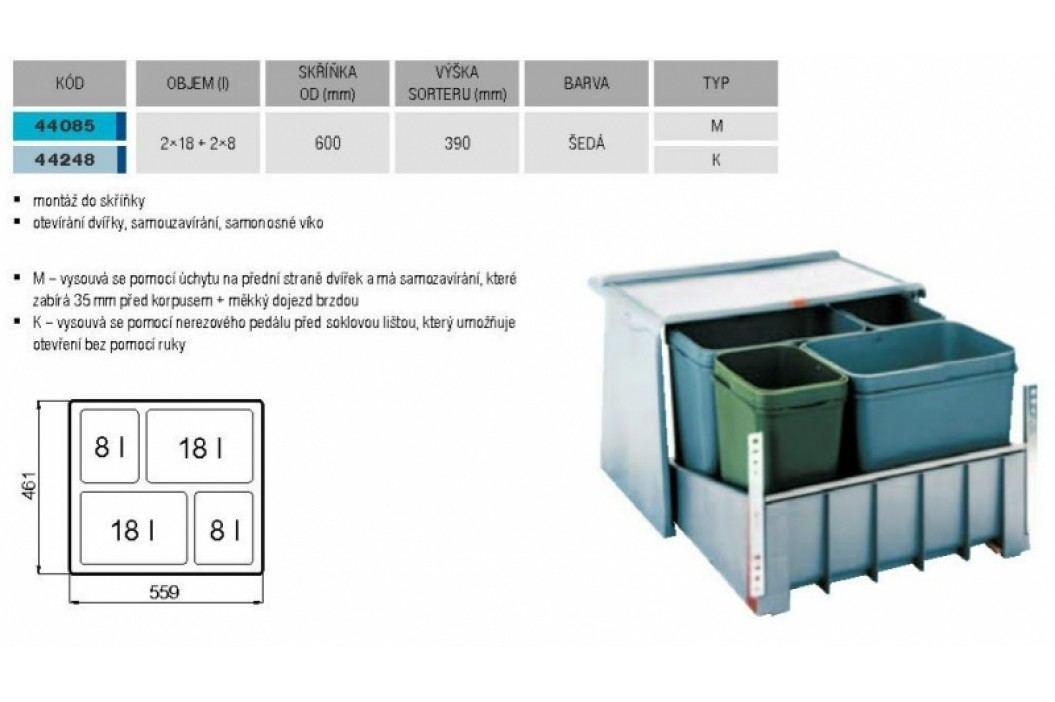 Odpadkový koš FRANKE sorter 700 M 60 2x 8 l, 2x 18 l