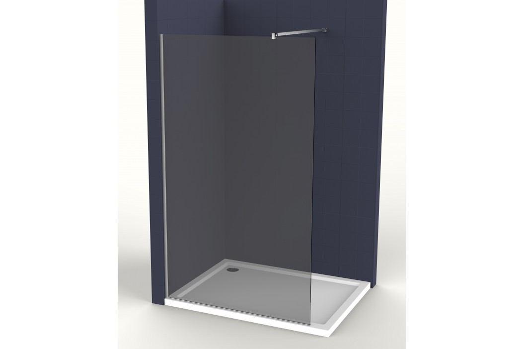 Pevná stěna Siko Walk-in Walk-in 80 cm, kouřové sklo SIKOWI80KS