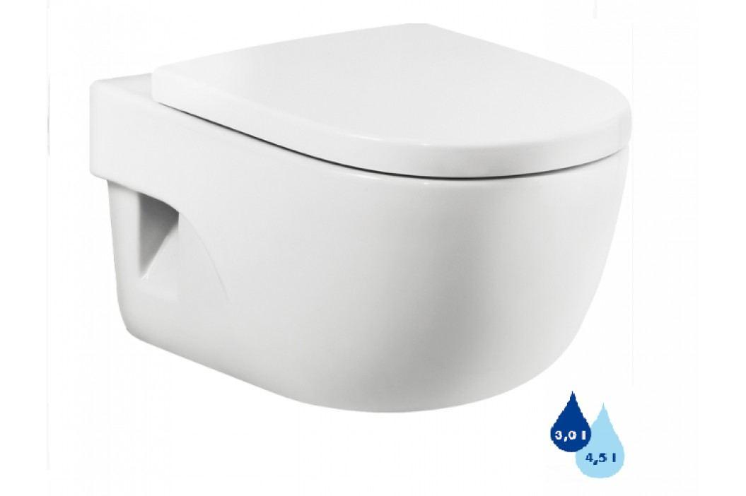 Závěsné WC Roca Meridian, zadní odpad, 56cm A346247000