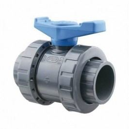 Kulový dvocestný ventil PVC  - 40mm