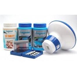 I.Základní set na bezchlorové ošetření vody (OXI tablety, pH-, pH+, tester, plovák)