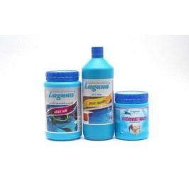 V. Set chemie pro odstranění zákalu vody  (Chlor Šok, Algicid ALG Blue, Vločkovací tablety)