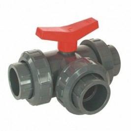 Vágnerpool PVC Kulový třícestný ventil 50 mm T