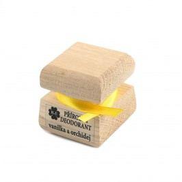 RaE Přírodní krémový deodorant s vůní vanilky a orchideje 15 ml dřevěný obal