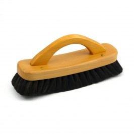 Redecker Lešticí kartáč na boty z bukového dřeva s rukojetí, tmavý 21 cm