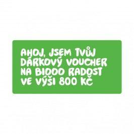 Biooo Dárkový voucher 800 Kč 1 ks