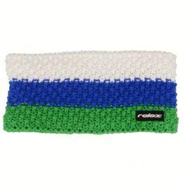 Relax Zimní čelenka Stripy zelená, modrá, bílá Rkh116B Dospělá