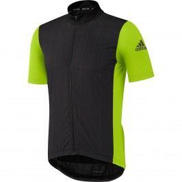 Adidas Dres supernova reflectivity jersey men black/semi solar slime M