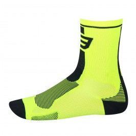 Force ponožky Long fluo-černé S M
