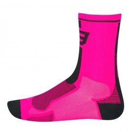 Force ponožky Long růžovo-černé L XL