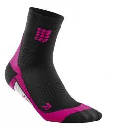 Cep Krátké ponožky dámské černá / růžová Iii