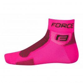 Force ponožky  1 růžovo-černé S M