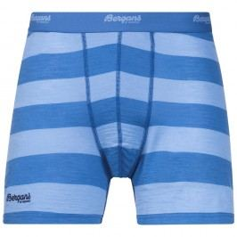 Bergans boxerky Merino Soleie Boxer MidBlue/Summerblue Striped L