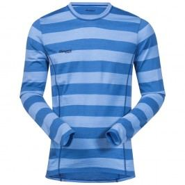 Bergans Merino Soleie Shirt MidBlue/Summerblue Striped L