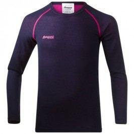 Bergans Dětské triko Akeleie Youth Shirt Navy/Hot Pink 128